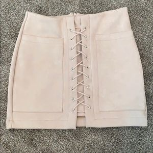 Nasty Gal Lace-Up Mini Skirt